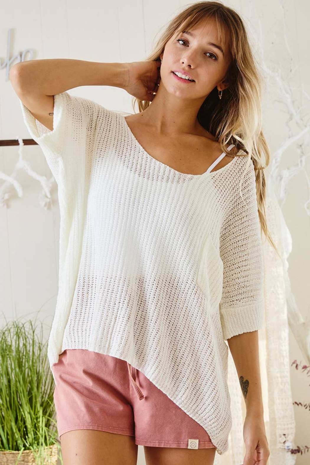 Ces Femme  Gina Lightweight Summer Sweater - Front Full Image