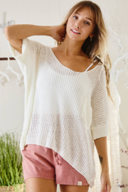 Ces Femme  Gina Lightweight Summer Sweater - Front full body