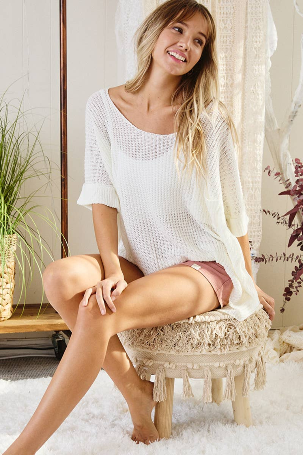 Ces Femme  Gina Lightweight Summer Sweater - Front Cropped Image