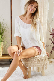 Ces Femme  Gina Lightweight Summer Sweater - Front cropped