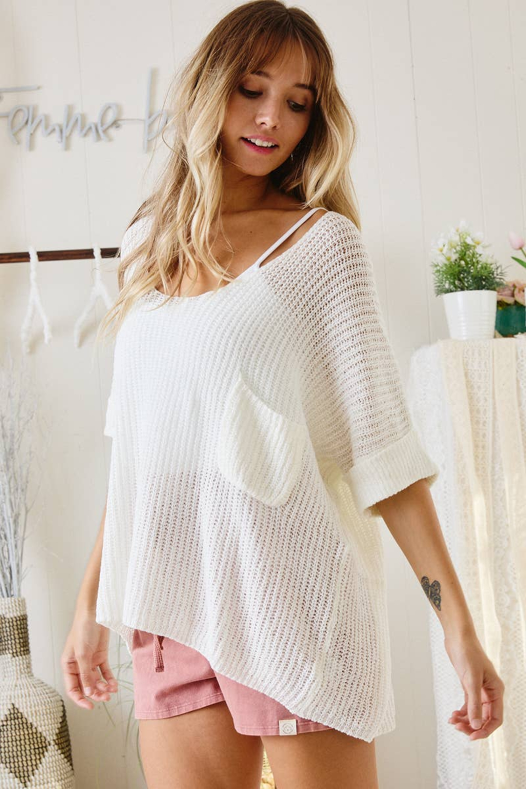Ces Femme  Gina Lightweight Summer Sweater - Side Cropped Image