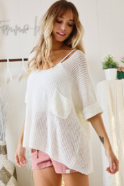 Ces Femme  Gina Lightweight Summer Sweater - Side cropped