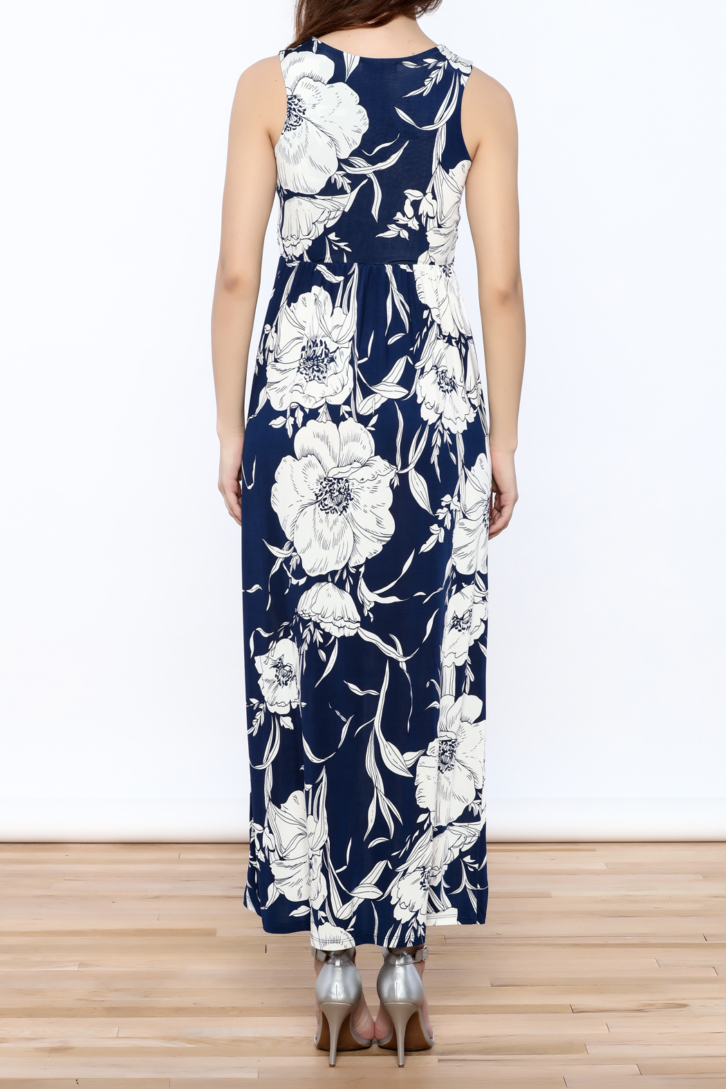 Gina Louise Blue Resort Maxi - Back Cropped Image