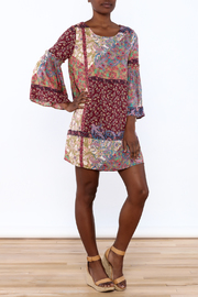 Gina Louise Bohemian Patchwork Dress - Front full body