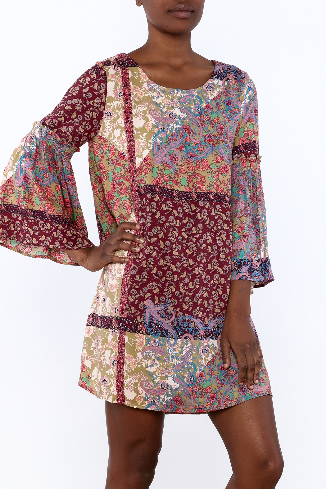 Gina Louise Bohemian Patchwork Dress - Main Image