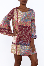 Gina Louise Bohemian Patchwork Dress - Front cropped