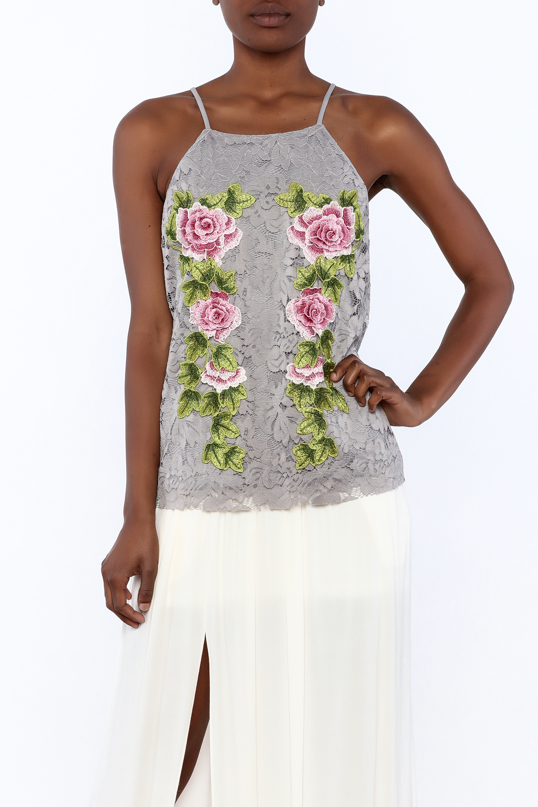 Gina Louise Cascading Roses Top - Main Image