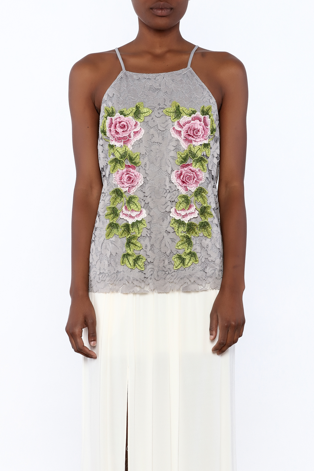 Gina Louise Cascading Roses Top - Side Cropped Image