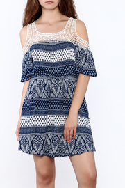 Gina Louise Blue Bohemian Dress - Product Mini Image
