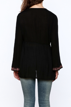 Gina Louise Black Embroidered Tunic Blouse - Alternate List Image