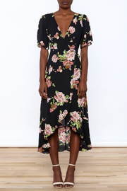 Gina Louise Floral Wrap Dress - Front cropped
