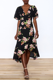 Gina Louise Floral Wrap Dress - Product Mini Image