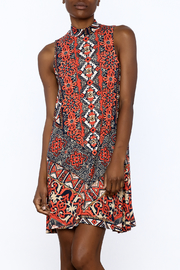 Gina Louise Grecian Coral Sleeveless Dress - Product Mini Image