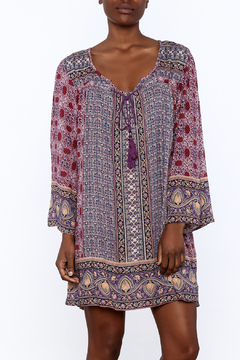 Shoptiques Product: Purple Bohemian Shift Dress