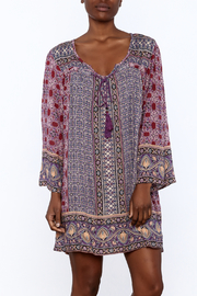 Gina Louise Purple Bohemian Shift Dress - Product Mini Image