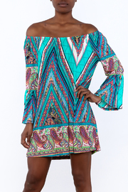 Gina Louise Seaside Blues Dress - Product Mini Image