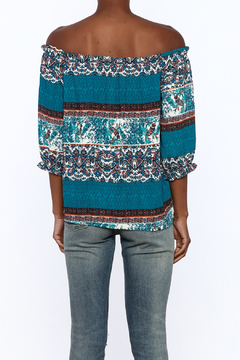 Gina Louise Teal Bohemian Top - Alternate List Image