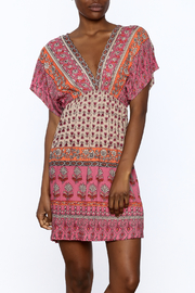 Gina Louise Pink Paradise Bohemian Dress - Product Mini Image