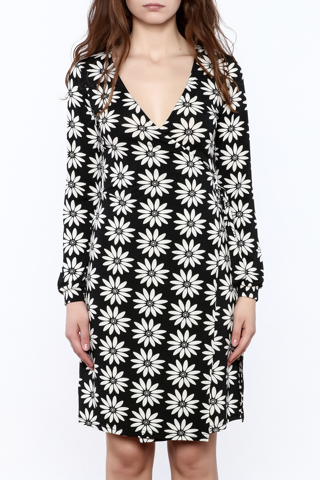 Gina Louise Floral Wrap Dress - Side Cropped Image