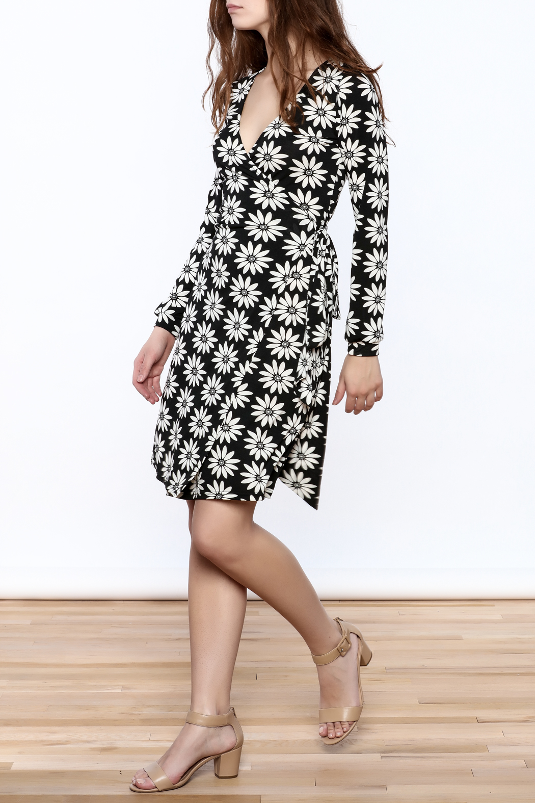 Gina Louise Floral Wrap Dress - Front Full Image