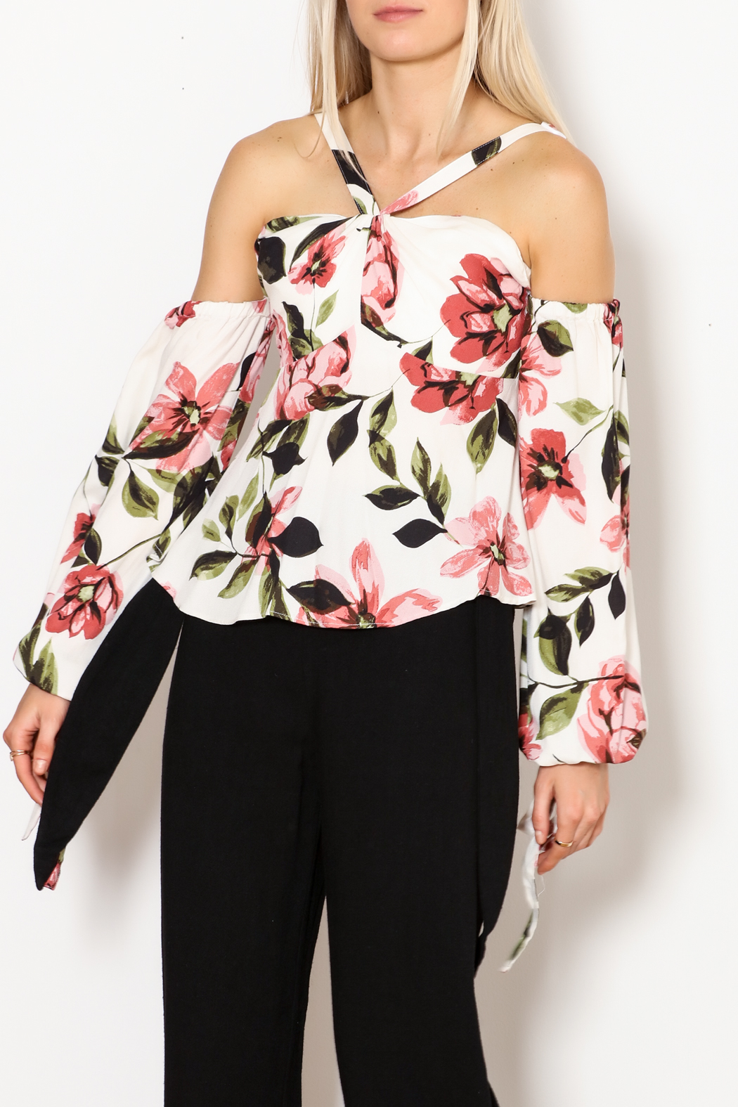 Olivaceous Gina Off The Shoulder Print Top - Main Image
