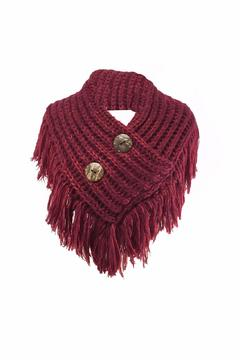 Shoptiques Product: Burgundy Collar Scarf
