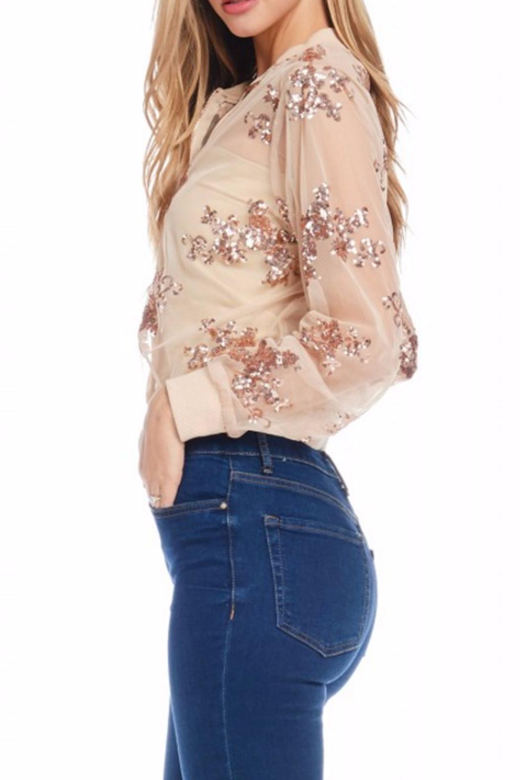 Gina Louise Cropped Sequin Jacket - Front Full Image
