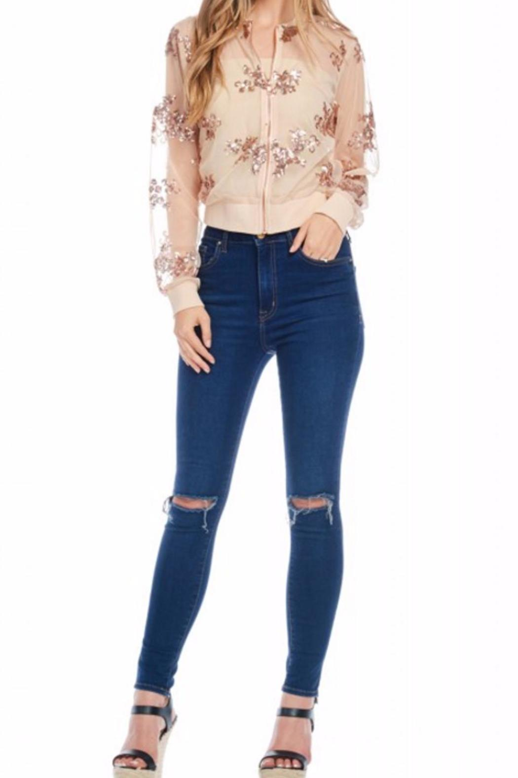 Gina Louise Cropped Sequin Jacket - Side Cropped Image