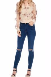 Gina Louise Cropped Sequin Jacket - Side cropped