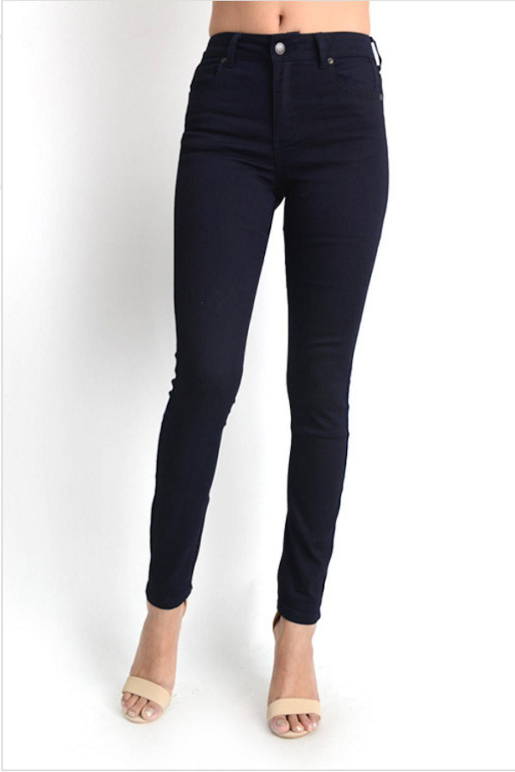 Gina Louise Navy Skinny Jeans - Side Cropped Image