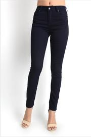 Gina Louise Navy Skinny Jeans - Side cropped