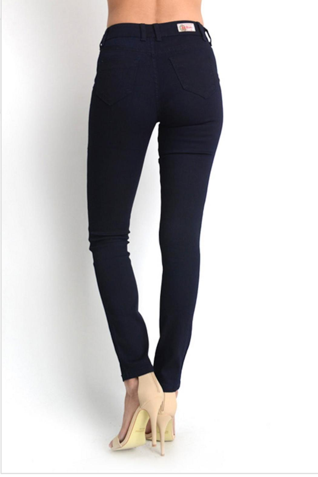 Gina Louise Navy Skinny Jeans - Front Full Image