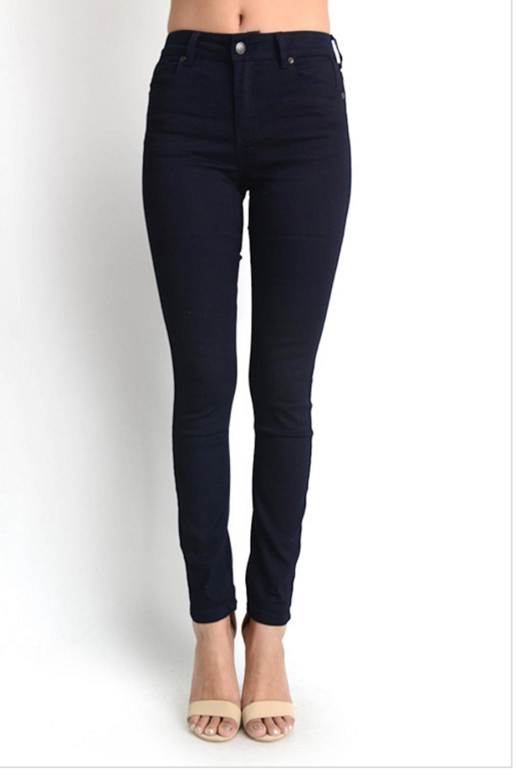 Gina Louise Navy Skinny Jeans - Front Cropped Image