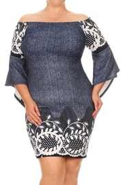 Gina Louise Plus Size Denim Dress - Product Mini Image
