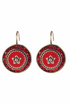 Shoptiques Product: Red Crystal Earrings