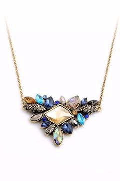 Shoptiques Product: Rhinestone Cluster Necklace