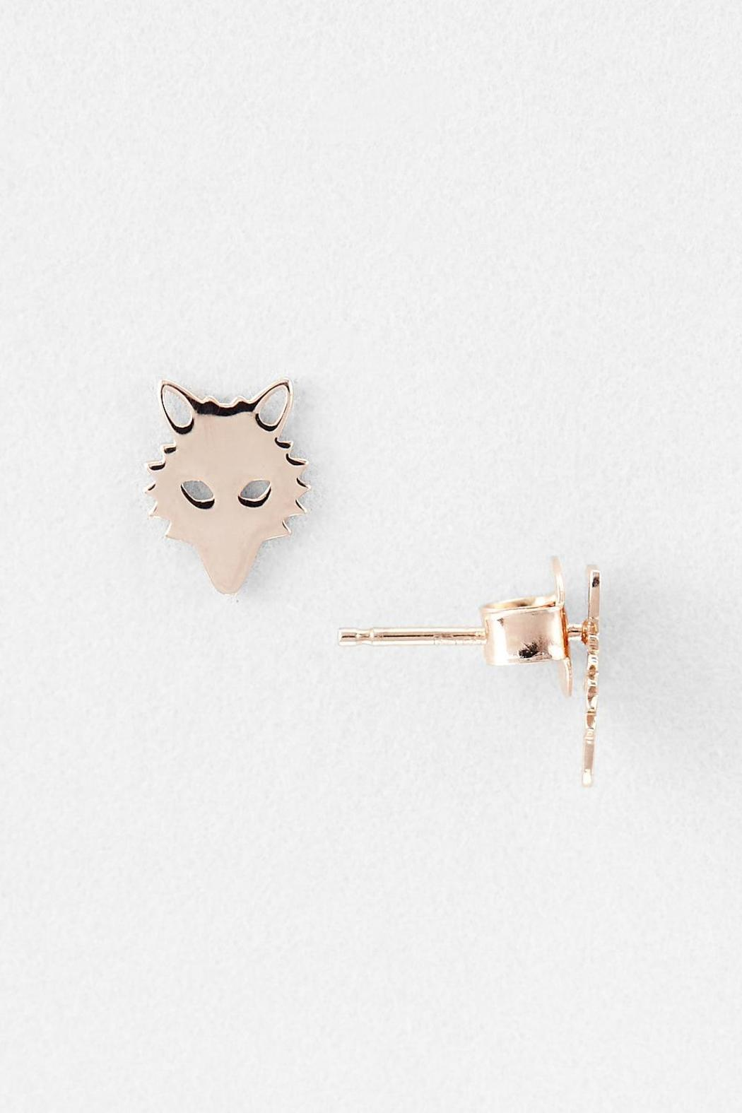 Ginette Ny Mini Wolf Earrings Front Full Image