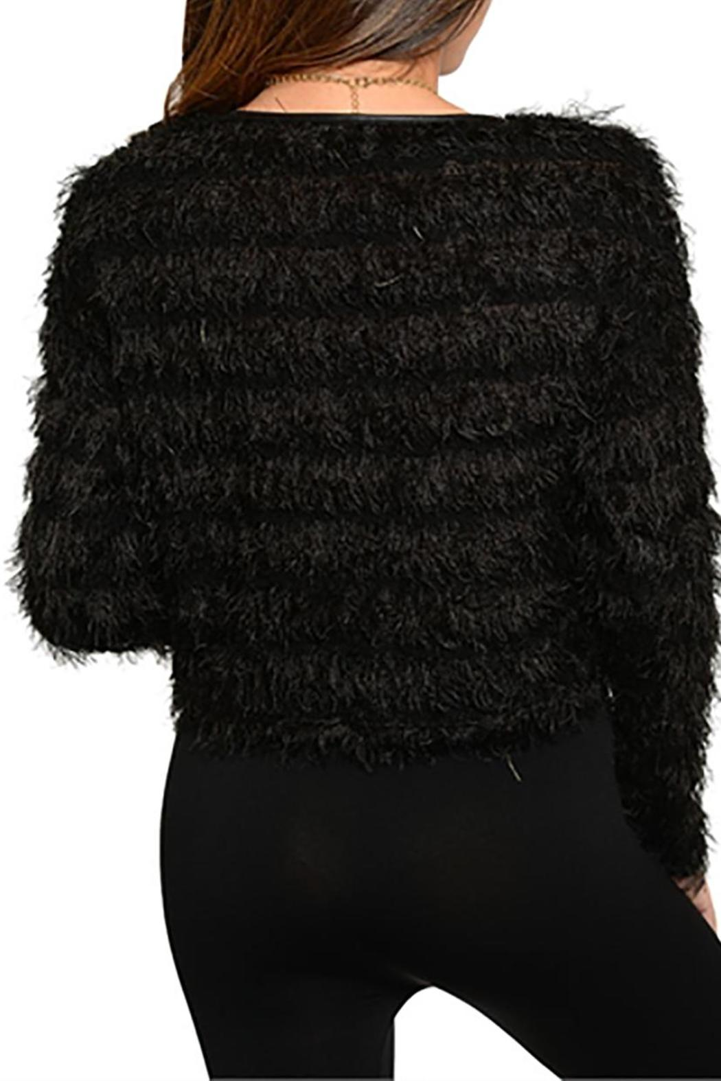 Ginger G Black Fuzzy Sweater from Idaho by The Paper Doll — Shoptiques