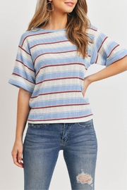 Ginger G Blue Stripes Top - Product Mini Image