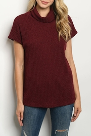 Ginger G Burgundy Cowl-Neck Top - Product Mini Image