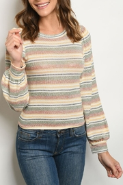 Ginger G Olive Ivory Sweater - Product Mini Image