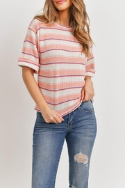 Ginger G Peach Striped Top - Product Mini Image