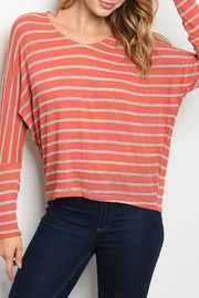 Ginger G Rust Batwing Top - Product Mini Image