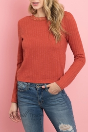 Ginger G Rust Lace Top - Product Mini Image