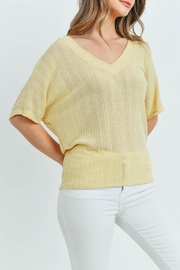 Ginger G Yellow Knit Top - Other