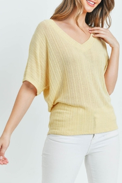 Ginger G Yellow Knit Top - Product List Image