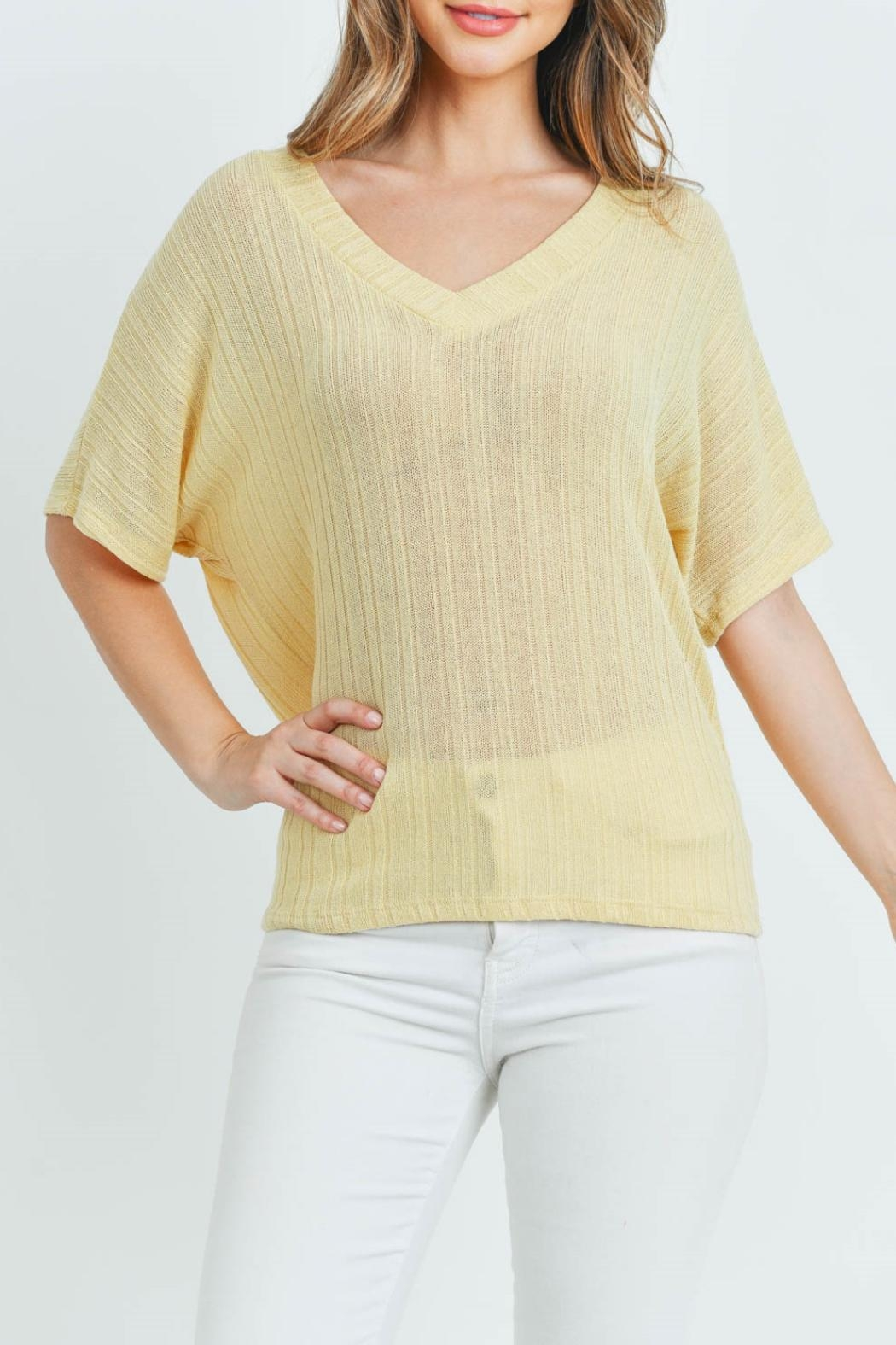 Ginger G Yellow Knit Top - Front Full Image