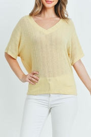 Ginger G Yellow Knit Top - Front full body