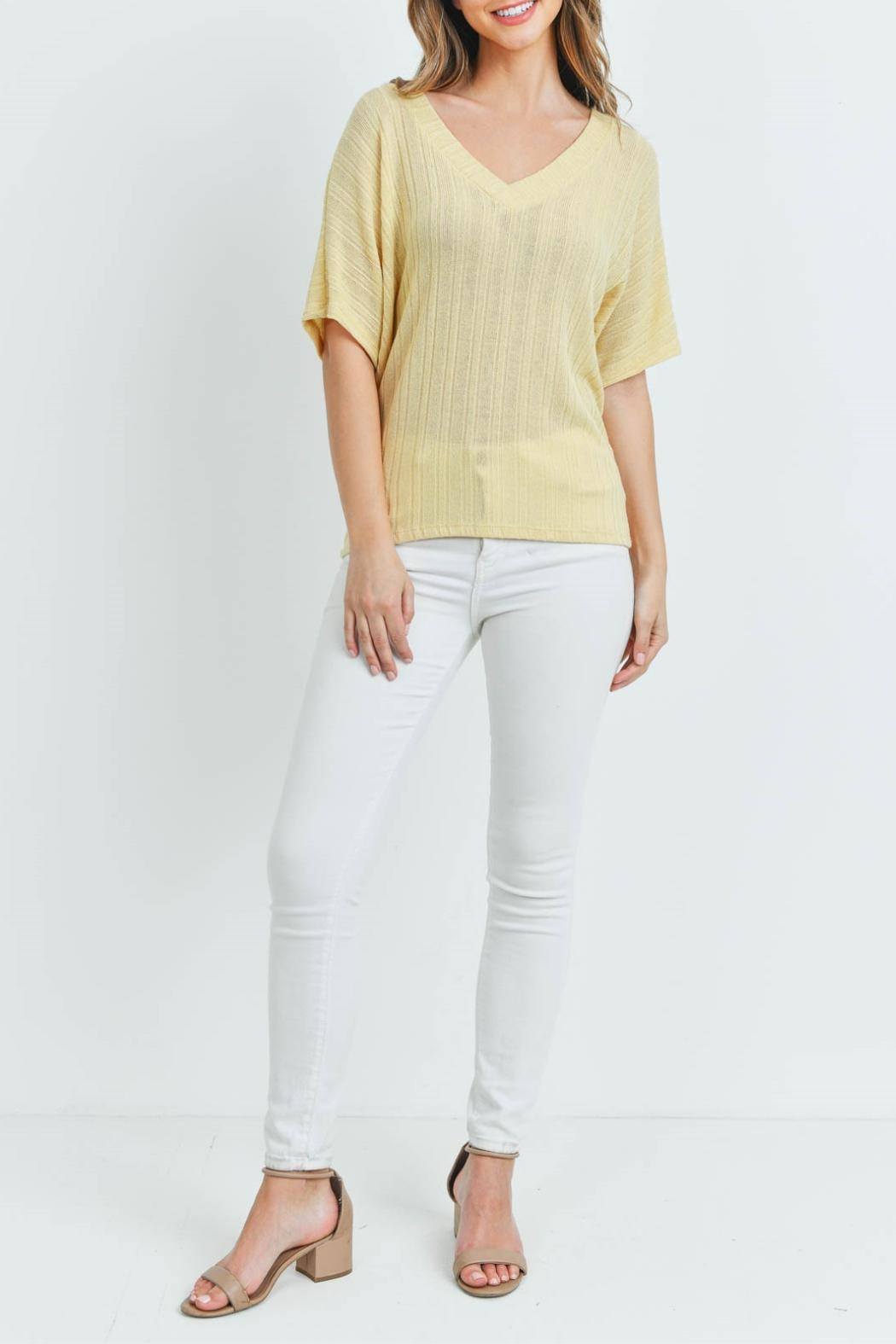 Ginger G Yellow Knit Top - Side Cropped Image