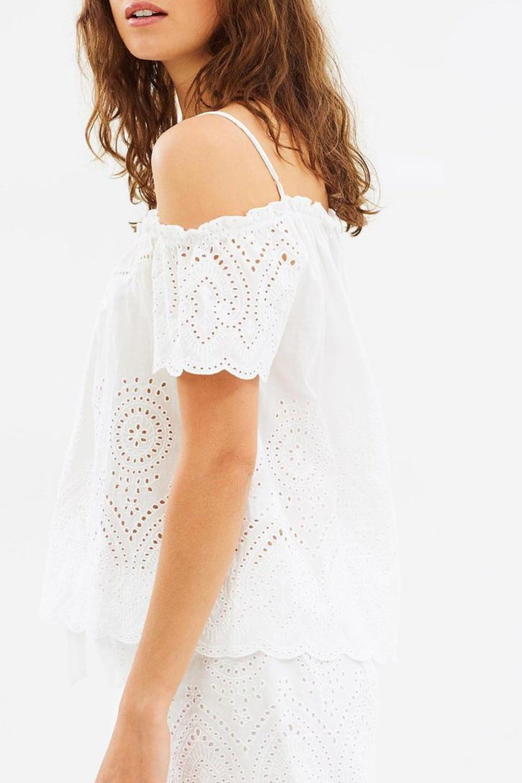 Gingerlilly Paloma Cotton Slip - Back Cropped Image